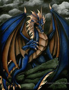 Hey, I found this really awesome dragon  https://www.etsy.com/listing/595316233/thunderstorm-4x6-print