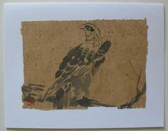 $4.99  Hand Made Asian Bird Fine ART Blank Card BY DAO YAN HU | eBay  #holiday #stationary #greetingcard
