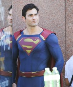 Or it used to be a secret — until now. | Tyler Hoechlin In Costume As Superman Is, Well, Super Sexy