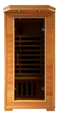 Our Classic One Sauna is a perfect fit for a master bedroom or walk in closet! It is a perfect size for an individual to enjoy a relaxing sauna session! Visit www.blackstonesaunas.com to view all our Sauna units!