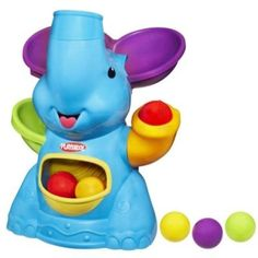 """Playskool Poppin' Park Elefun Busy Ball Popper - Blue - Hasbro - Toys """"R"""" Us Best Baby Toys, Best Kids Toys, Fisher Price, Nerf, Toys For 1 Year Old, 9 Month Old Toys, Developmental Toys, Babies First Christmas, Christmas 2016"""