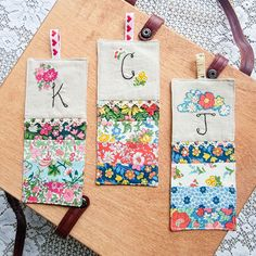 Handmade Bookmarks made with Liberty of London prints Bible Study Lessons, Liberty Of London Fabric, How To Make Bookmarks, Paper Doilies, Fat Quarter Shop, Fabric Strips, Flower Show, Cute Stickers, Craft Gifts