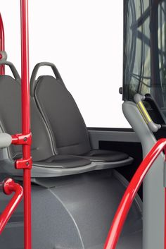 Press trial drive for the Citaro Euro VI: The test vehicles in detail Bus Interior, Interior Design, North Asia, Buses, Trials, Mercedes Benz, Transportation, Europe, Detail