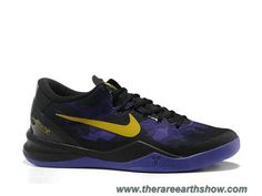 pretty nice e5cc7 bf9b1 Buy 2013 New Nike Zoom Kobe 8 Lakers Away Black Purple Yellow Basketball  Shoes Store