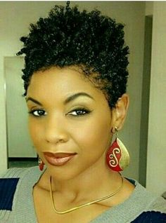 Natural Hair Updos for African American Short Hair - Hair styles - Hair Designs Short Curly Hair, Short Hair Cuts, Curly Hair Styles, Short Natural Styles, Natural Hair Cuts, Tapered Natural Hairstyles, Short Black Natural Hairstyles, Twa Hairstyles, American Hairstyles