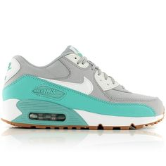 nike WMNS AIR MAX 90 ESSENTIAL WOLF GREY/BARELY GREEN-WASHED TEAL