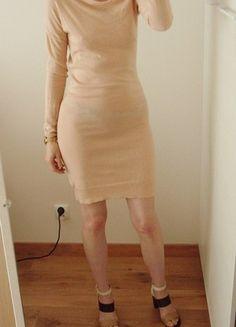 Kup mój przedmiot na #vintedpl http://www.vinted.pl/damska-odziez/sukienki-dzianinowe/20997552-wymiana-500-zl-patrizia-pepe-sukienka-dzianinowa-kaszmir-nude-pudrowa-34-36