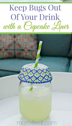 Keep Bugs Out of Your Drink With a Cupcake Liner