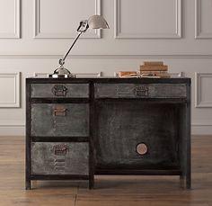 vintage locker desk