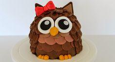 Mignon gâteau Hibou, en 4 couleurs différentes!