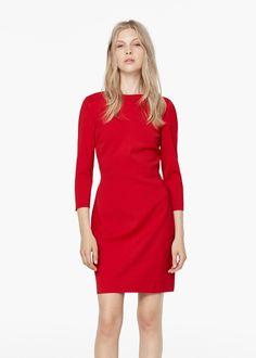 Pin for Later: Die 30 besten Sale-Schnäppchen  Mango rotes Kleid mit leichtem V-Ausschnitt am Rücken (ursprünglich 50 €, jetzt 15 €)
