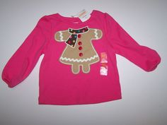 NWT GYMBOREE WINTER CHEER PINK LONG SLEEVE TOP SIZE 6-12  MONTHS  #Gymboree #Everyday