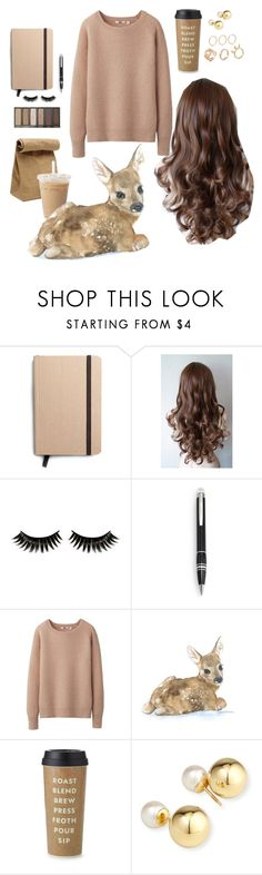 """bambi brown hair"" by ariana1grande ❤ liked on Polyvore featuring Shinola, Boohoo, Urban Decay, Montblanc, Uniqlo, Jil Sander, Kate Spade and Yoko London"