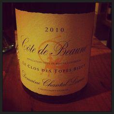 Cotes de Beaune 2010 - Le Clos des Topes Bizot - Chanta Lescure  fruité, sur, bon, bio