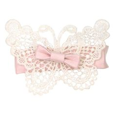 ❤ liked on Polyvore featuring fillers, pink, lace, accessories and bows