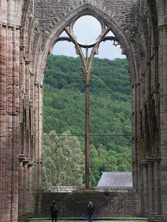 Great Window at Tintern Abbey.