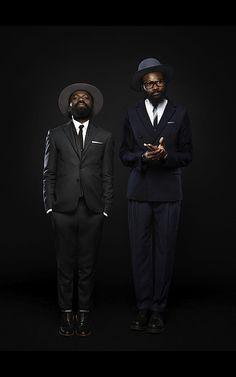 great suits on sam lambert and shaka maidoh