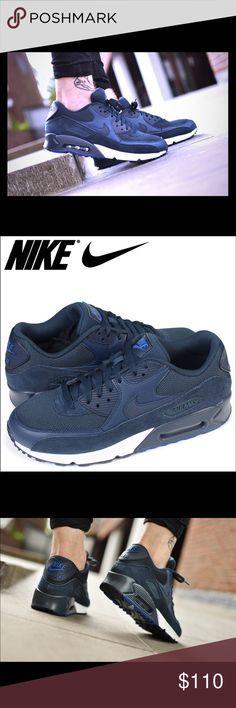 NEW MEN'S NIKE AIR MAX 90 ESSENTIAL (Navy) Size 11.5 reebok asics Flyknit  foamposits foamposite foamposites shoe shoes sneaker sneakers basketball  baseball ...