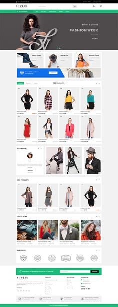 42 Ideas For Fashion Design Templates Clothes Fashion Web Design, Fashion Design Template, Design Templates, Editorial Design Magazine, Magazine Design, Diy Crafts New, Online Themes, Art Web, Ecommerce Website Design
