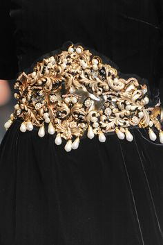 vintage pins as replacement for embroidery? Dolce & Gabbana Fall 2012 Ready to Wear