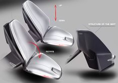 SPD - Concept Car Interior - Seat Design Sketches