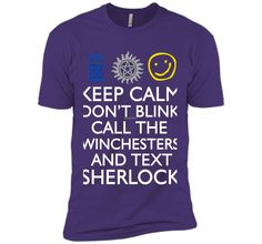 SUPERWHOLOCK SUPERNATURAL DOCTOR WHO SHERLOCK tshirt