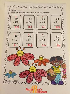 Common Core Spring Math Review includes 35 pages that meets common core standards for first grade. This spring themed packet is a great resource to help your students to review their math skills in lovely spring.