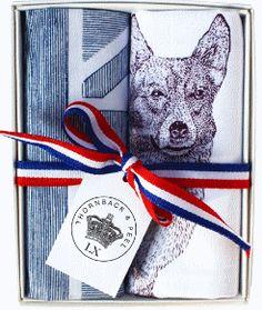 Corgi and flag handkerchief box  £15.50  Thornback & Peel