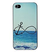 Anchor and Beach Pattern PC Hard Case for iPh... – USD $ 2.99