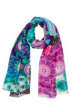 Desigual women's Allegra sarong. Our maxi-scarves are the best: you can wear them as a sarong, a pashmina or a beach dress, etc. Wow!