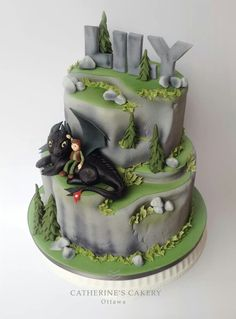 Catherine's Cakery | How To Train Your Dragon cake