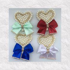 Presilhas bordadas laço ou coração                                                                                                                                                     Mais