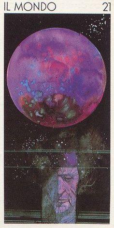 The World - Tarocchi Universali di Sergio Toppi - Marina Marina - Picasa Web… The World Tarot Card, Le Tarot, Et Tattoo, Tarot Astrology, Tarot Major Arcana, Oracle Cards, Tarot Decks, Archetypes, Comic Artist
