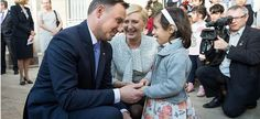 In Bethleyem Mr. President and First Lady met with Palestinian children in Elisabethan Home for children led by Polish Elisabethans; small Palestinian girl Karoline who is speaking Polish excelent; she knows Polish songs and carolls; fot.Andrzej Hrechorowicz/KPRP