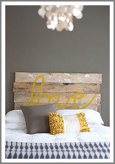 AutumnOstlundDesign: Love headboard