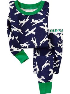 Plane-Print PJ Sets for Baby | Old Navy