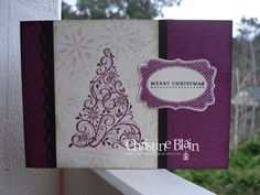 Christmas Card by Christine Blain using Stampin' Up! Snow Swirled stamp set