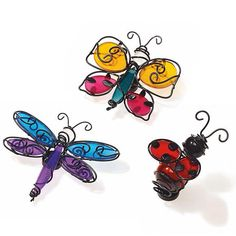 Fluttering friends candle clips
