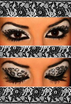 Beautiful grey leopard makeup for party time Rave Makeup, Party Makeup, Leopard Makeup, Leopard Eyes, Exotic Makeup, High Fashion Makeup, Eye Art, Fantasy Makeup, Looks Style