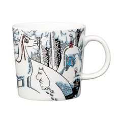Snowhorse Moomin mug Winter 2016 from Arabia by Tove Jansson, Tove Slotte Moomin Shop, Moomin Mugs, Nordic Design, Scandinavian Design, Les Moomins, Moomin Valley, Tove Jansson, The Book, Tea Pots