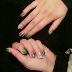 Gel polish nail art by Gloria Weber