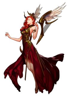 Female Human Winged Harp Bard - Pathfinder PFRPG DND D&D d20 fantasy