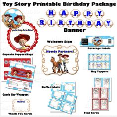 DIY Printable Toy Story Birthday Party Package  - Jessie and Woody. .