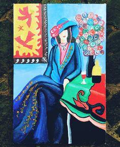 Secret lover Matisse inspired painting   #acrylicpainting #pregnanthobby #preggy40 #PregnantAt40
