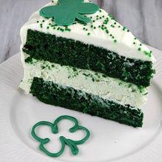 St. Patties Green Velvet Cake