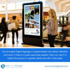 #Cloud based #DigitalSignage in #Supermarkets can #attract #attention and even if there is a sales associate present, they can use it to clarify the #product in greater #detail and with more #ease. ‪#‎TucanaGlobalTechnology‬ ‪#‎Manufacturer‬ #HongKong