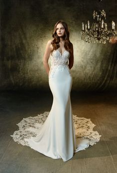 Blue by Enzoani - Lena - Olivelli Mermaid Skirt, Mermaid Gown, Matric Dance Dresses, Best Gowns, Lace Corset, Bridesmaid Dresses, Wedding Dresses, Embroidered Lace, Wedding Bride
