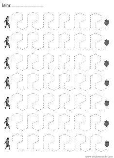 Düz Çizgi Çalışmaları İndir, free line worksheets printables