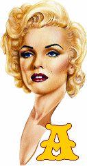 Alfabeto con dibujo de Marilyn.