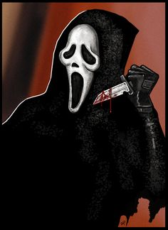 This is illustration based on the movie series Scream, since there is the new one comming out soon. Scream series has always been one of my favorite horror series, up there with saw. more at